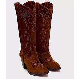 NEW NWT Frye Stitch Detail Boots Western Size 9
